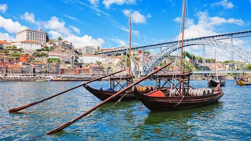 Boats in the River Douro in Porto