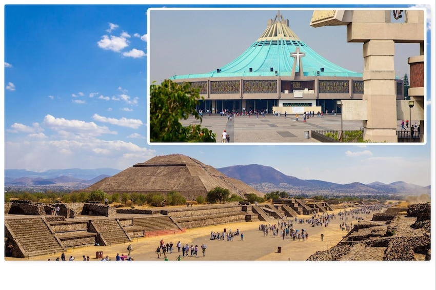 Cargar foto 1 de 10. Teotihuacan Pyramids & Guadalupe Shrine Full-Day Tour