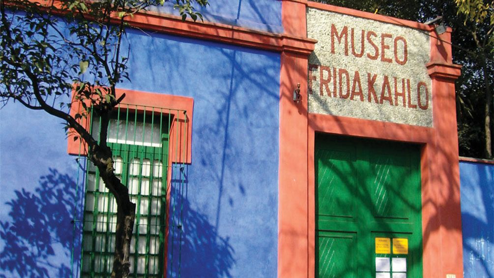 Entrance to the Frida Kahlo Museum