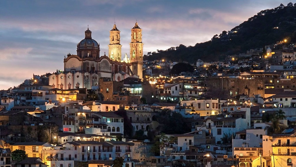 Show item 1 of 10. Taxco illuminated at night