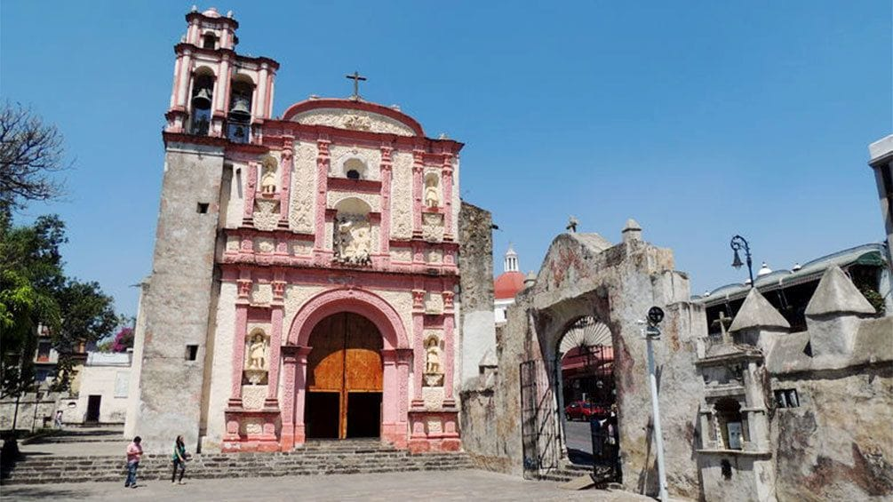 Show item 10 of 10. Colorful facade of a building in Taxco