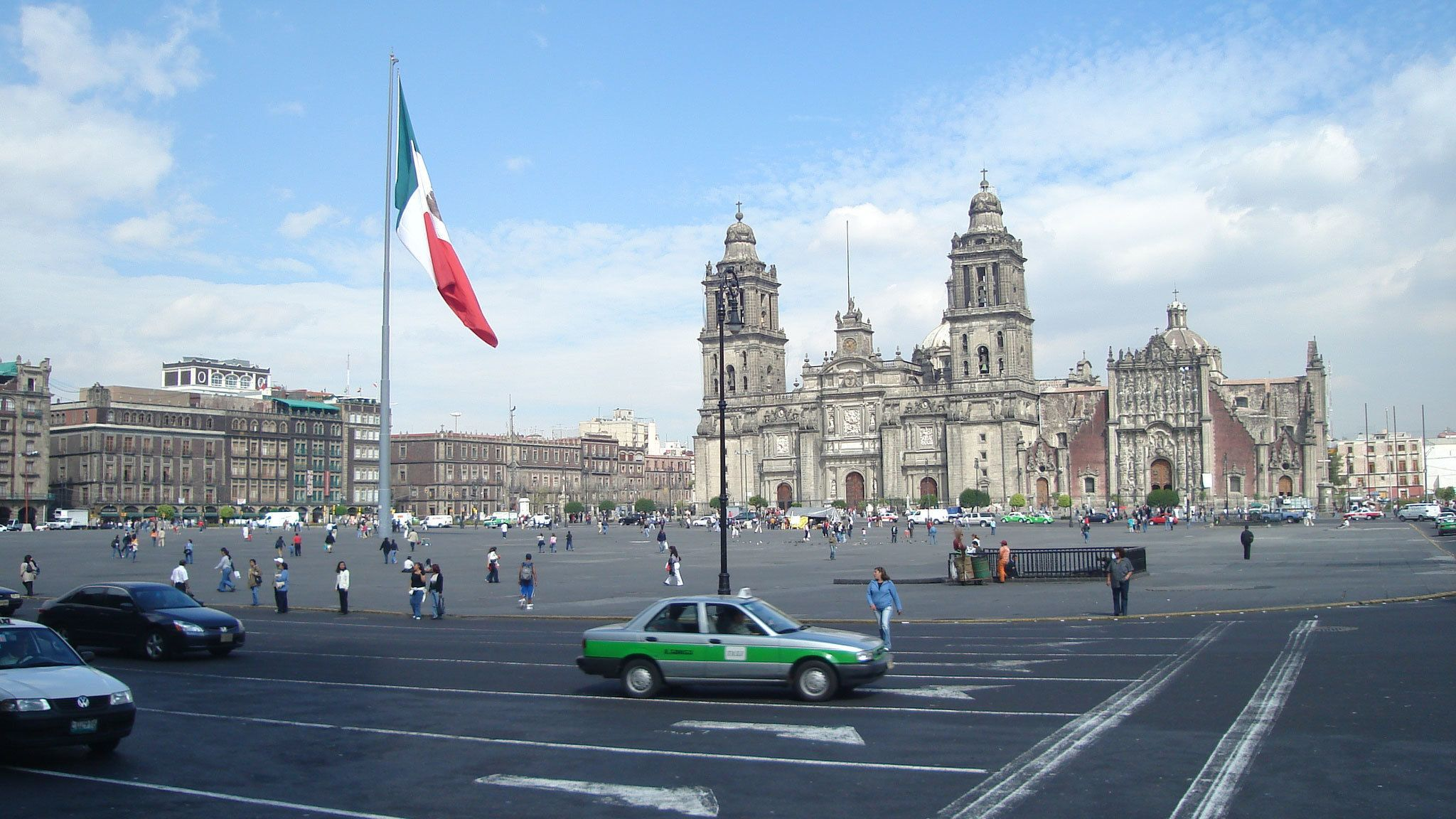 View of the Mexico City Metropolitan Cathedral