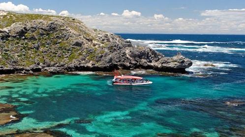 Boat coasting along the beach in Australia