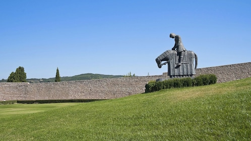 Scenic view of man on horse statue in Italy