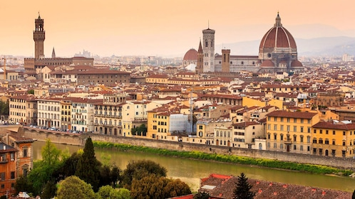 Beautiful scenic view of the historic city of Siena, Italy