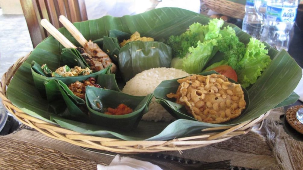 A selection of local foods  in Bali