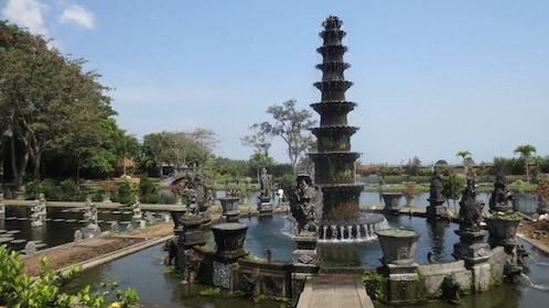 A fountain at a temple in Bali