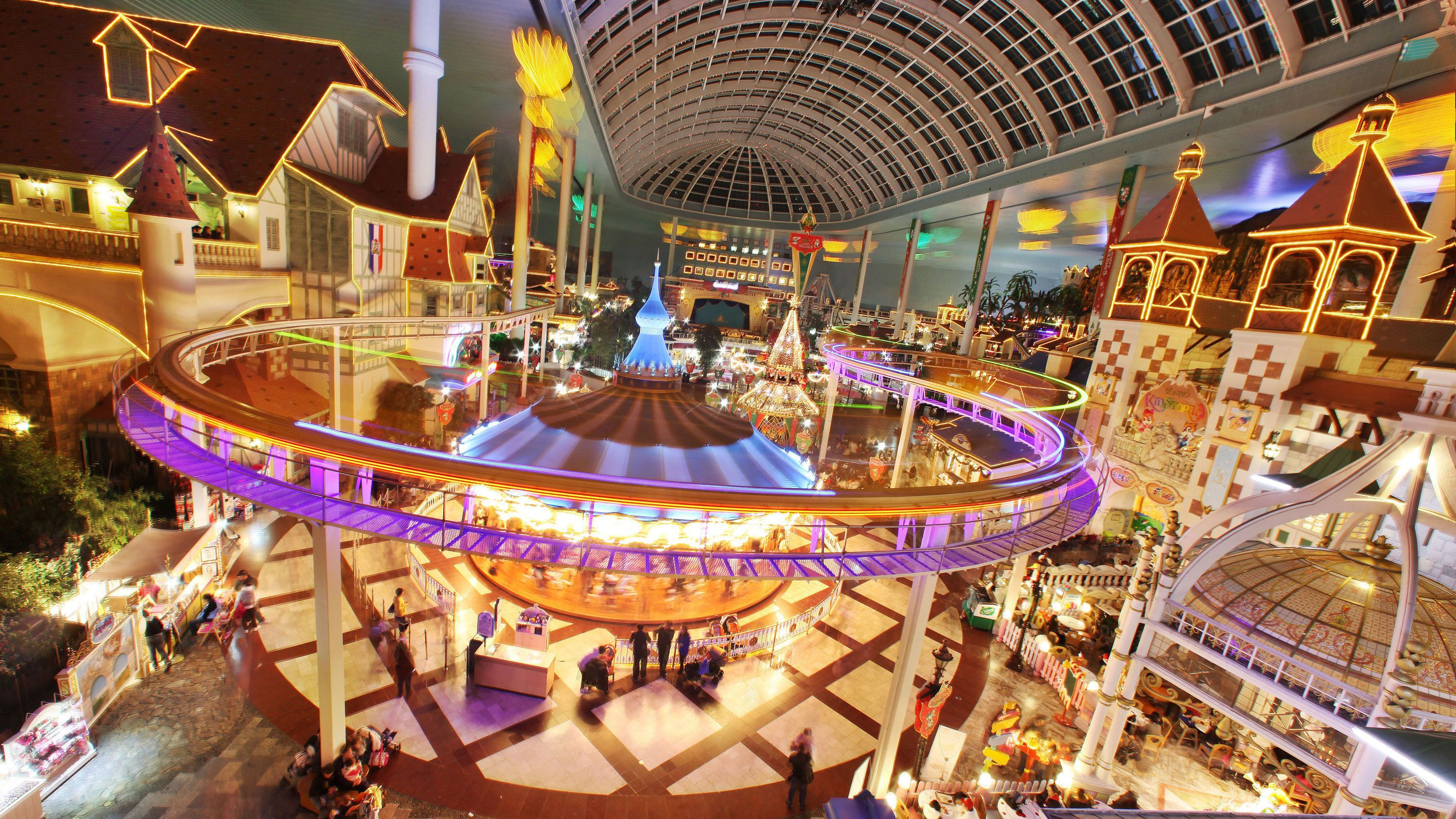 View inside the Lotte World Theme Park in Seoul