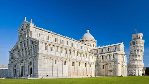 Ornate building near tower of Pisa Italy