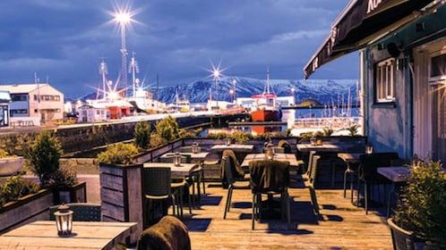 Outside dining at Kopar Restaurant in Reykjavik