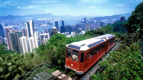 Train on the outskirts of Hong Kong