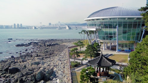 APEC Nurimaru and scenic view of the city in Busan