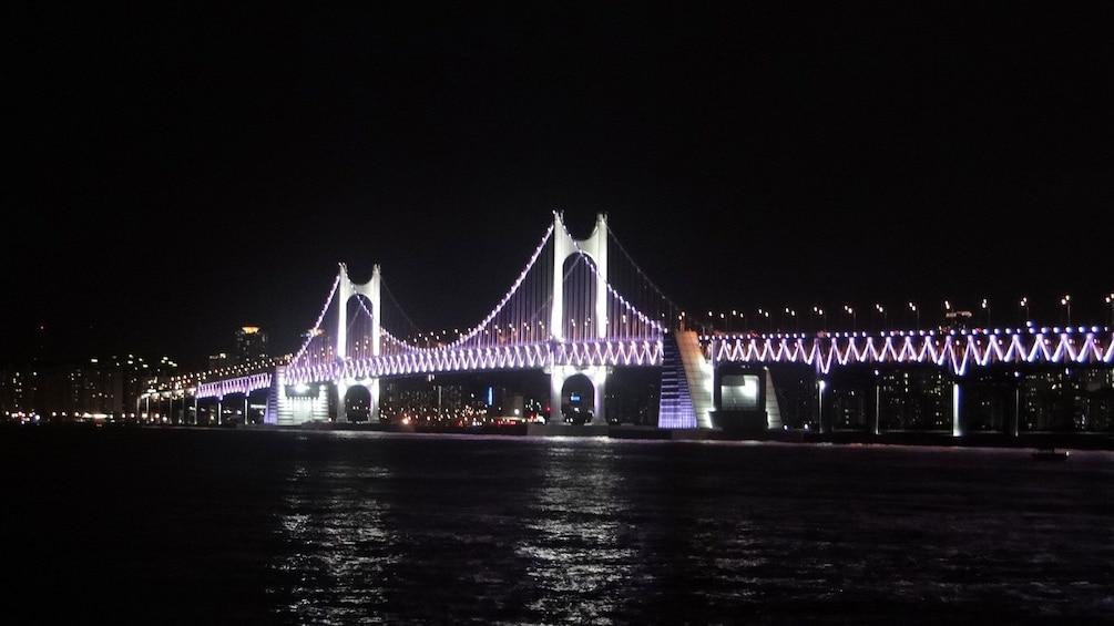 正在顯示第 1 張相片,共 5 張。 Beautiful view of Gwangan Bridge at night in Busan