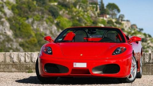 Ferrari parked on the street in Monaco