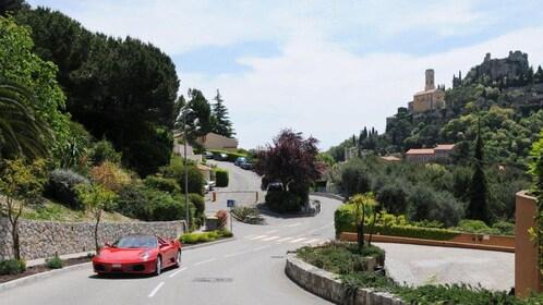 Ferrari on the streets of Monaco