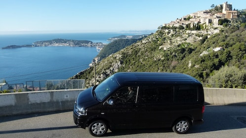Traveling from the city by van in France