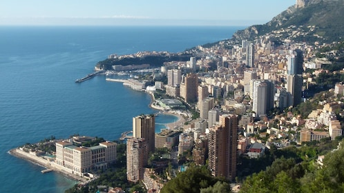 A complete view of Monaco Ville in France