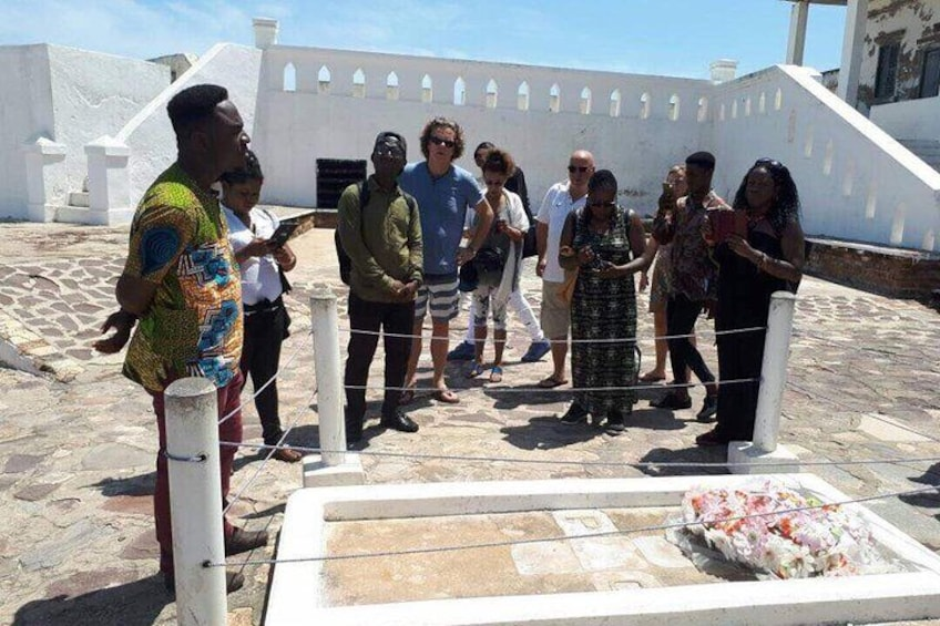 GOVERNOR'S GRAVES  Graves of some Governors at the fore court of the Cape Coast Castle.