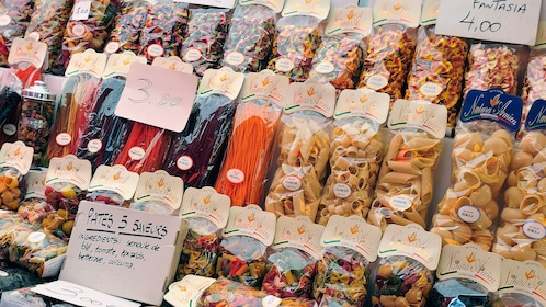 Pasta variations in the Italian market in Cannes