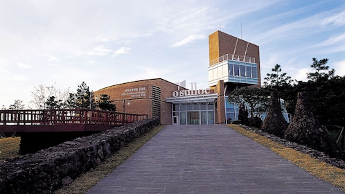 Exterior of O'sulloc museum on Jeju Island
