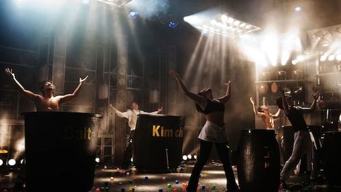 Middle of performance of Nanta Show on Jeju Island