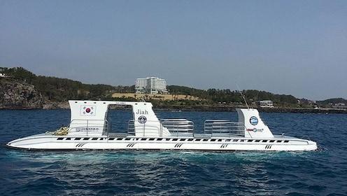 Submarine at surface around Jeju Island
