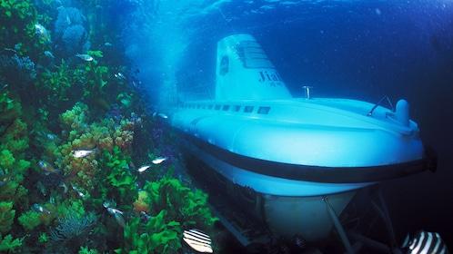 A submarine submersed off the coast of Jeju Island