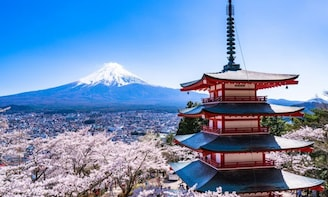 Mt. Fuji Five-storied Pagoda, Kawaguchi Lake &Ropeway Riding
