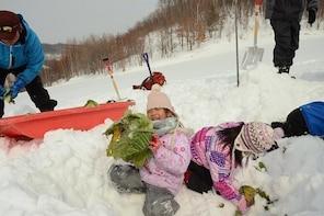 Furano local winter farming experience