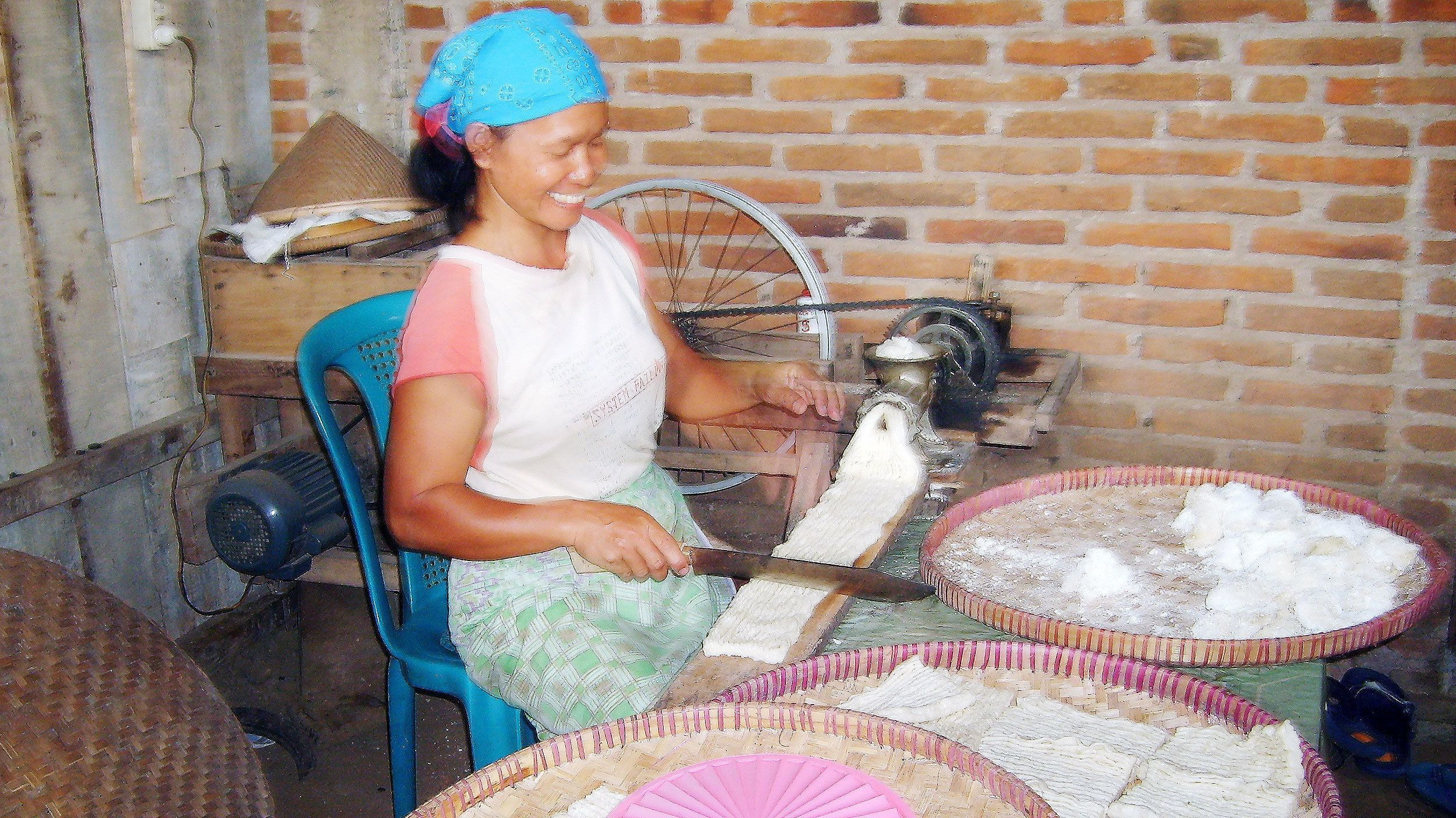 Woman preparing food in Candirejo Village