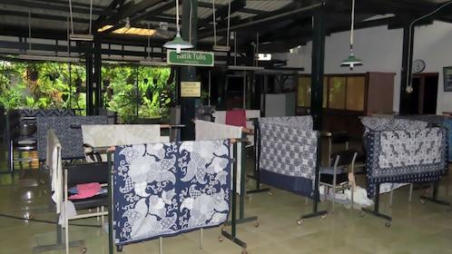 Batik fabrics in Yogyakarta