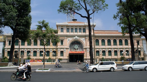 Close view of the Saigon Central Post Office in Ho Chi Minh City