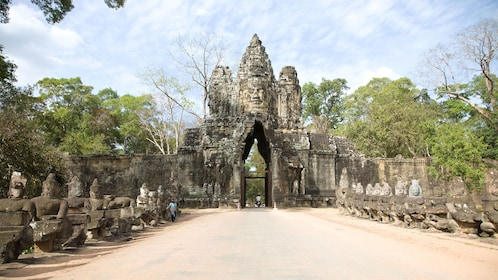 angkor thom south gate in siam reap