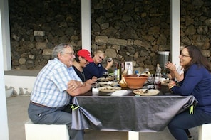 Outdoor Lunch with traditional foods