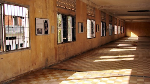 Hall inside the building at the Choeung Ek Killing Fields in Phnom Penh