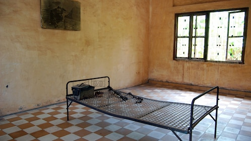 View of a room inside a building at the Choeung Ek Killing Fields in Phnom Penh