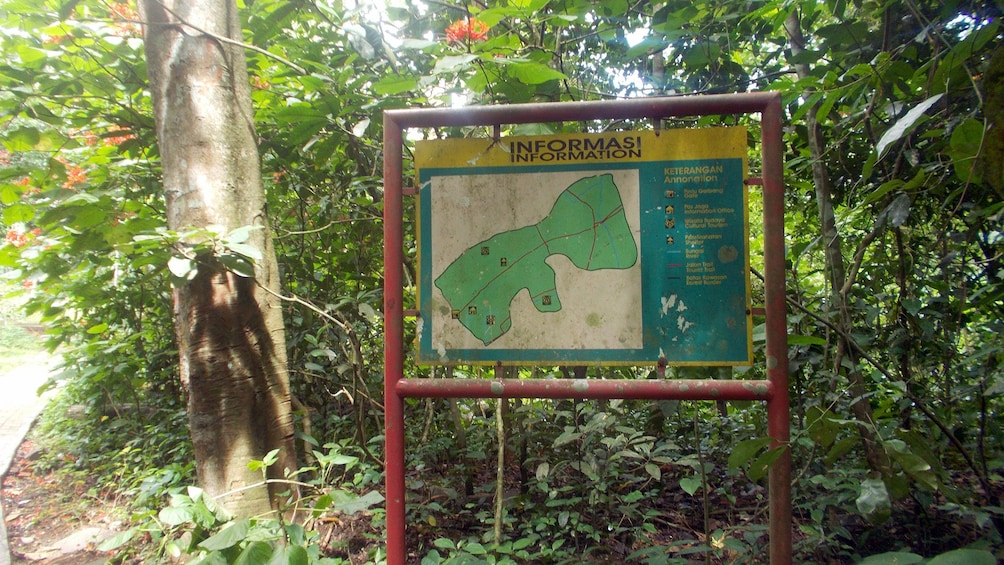 Show item 4 of 4. Information sign at a park on Lombok Island