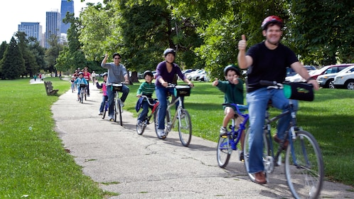 bicyclists enjoying themselves