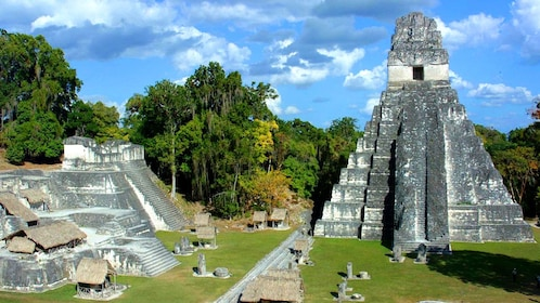 View of ruins from the ancient Mayan city of Tikal