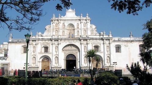 The Antigua Guatemala Cathedral in Guatemala