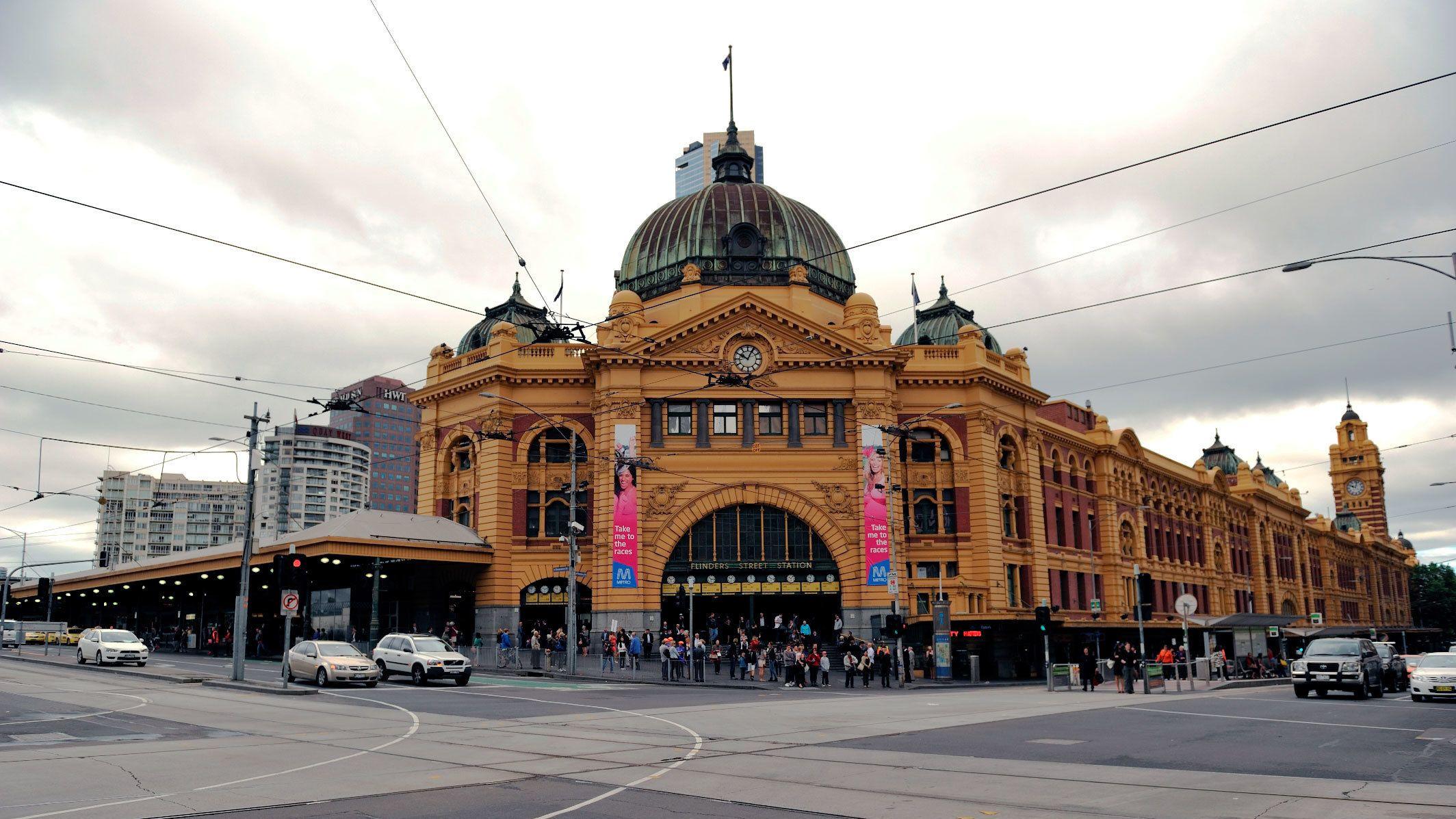 The Flinders Street Station in Melbourne
