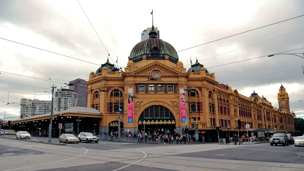 Show item 2 of 5. The Flinders Street Station in Melbourne