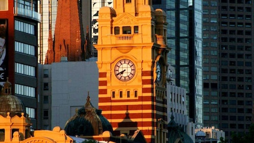 A clock tower in Melbourne