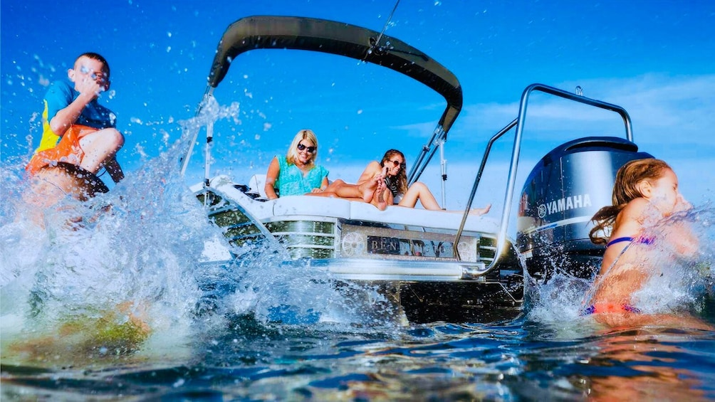 Show item 1 of 4. Crab Island 10 Passenger Pontoon Boat Rentals