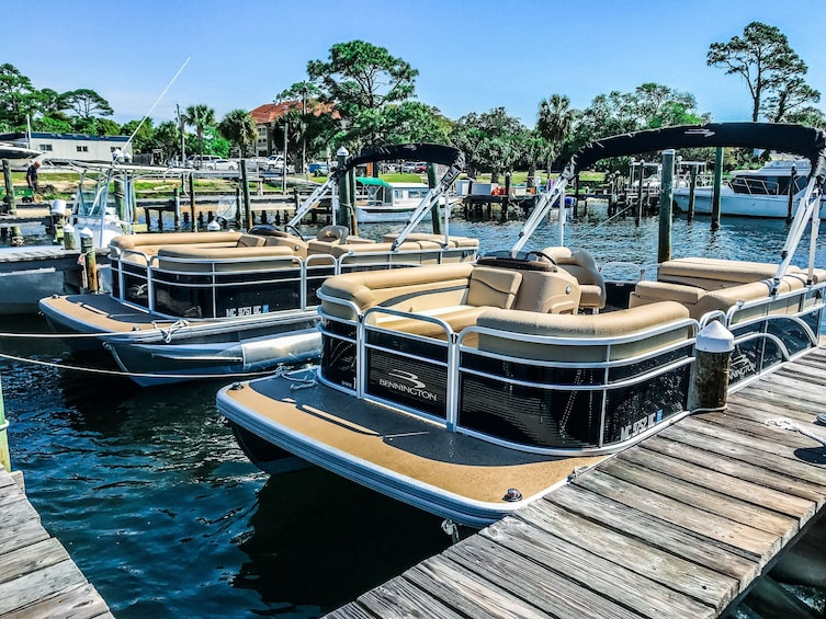 Show item 3 of 4. Crab Island 10 Passenger Pontoon Boat Rentals