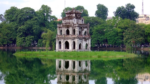 old structure at Hoan Kiem Lake in Hanoi