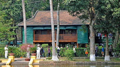 elevated wooden building in Hanoi