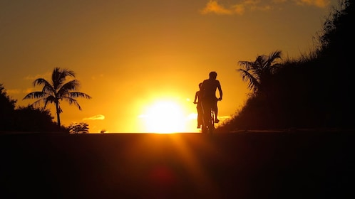 Group on a sunset Downhill Bike Adventure in Saipan