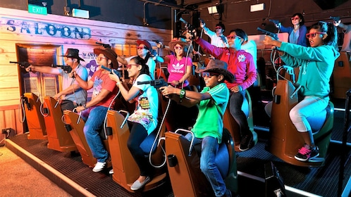 People on the Shoot Out 4D game at 4D Adventure land in Singapore