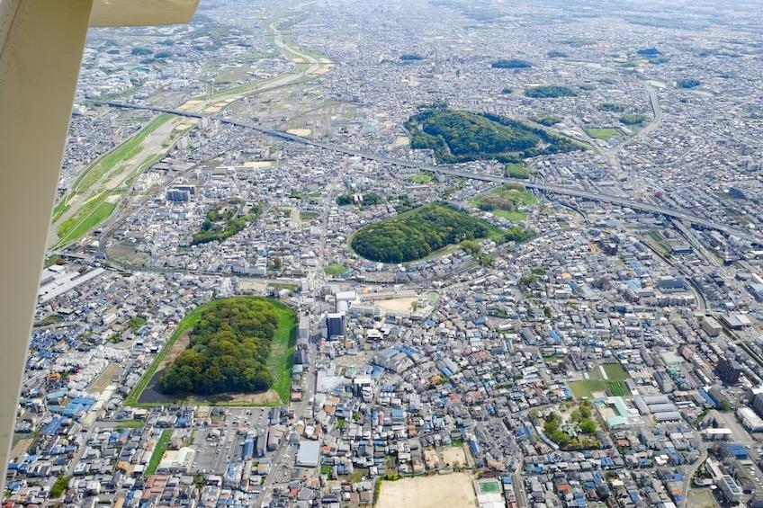 Show item 2 of 3. World Heritage Osaka Kofun Flight Tour